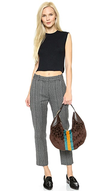 What Goes Around Comes Around Gucci Velour Stripe Hobo