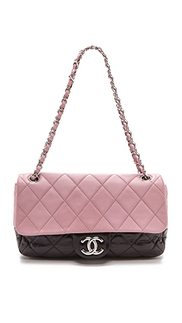 What Goes Around Comes Around Chanel Two Tone Half Flap Bag (Previously Owned)