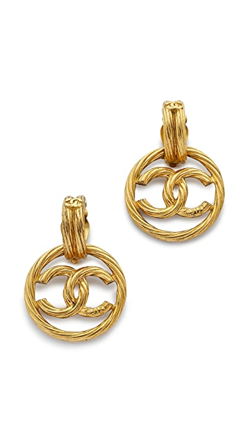 3a4f0fcdd47e What Goes Around Comes Around Vintage Chanel Rope Twist CC Earrings ...
