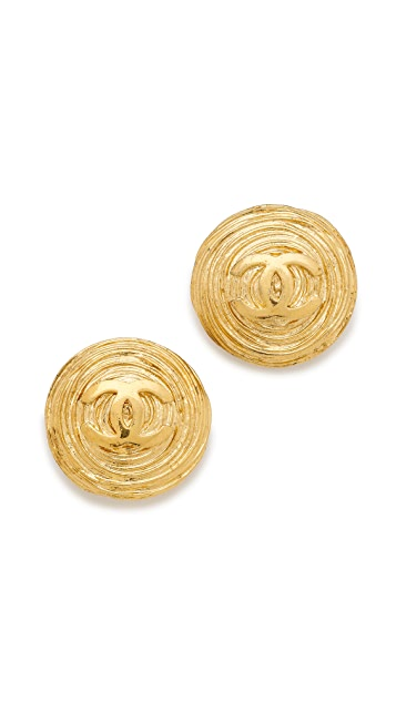 What Goes Around Comes Around Chanel Twisted Nest CC Earrings (Previously Owned)