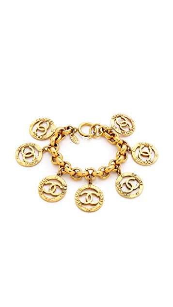 What Goes Around Comes Around Chanel Paris Cut CC Rounds Bracelet (Previously Owned)