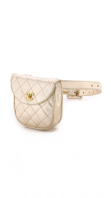 What Goes Around Comes Around Chanel Metallic Fanny Pack
