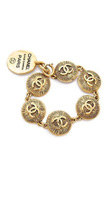 What Goes Around Comes Around Chanel Burst Coins Bracelet (Previously Owned)