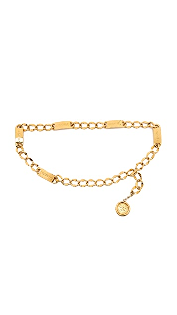 What Goes Around Comes Around Vintage Chanel Name Plate Chain Belt (Previously Owned)