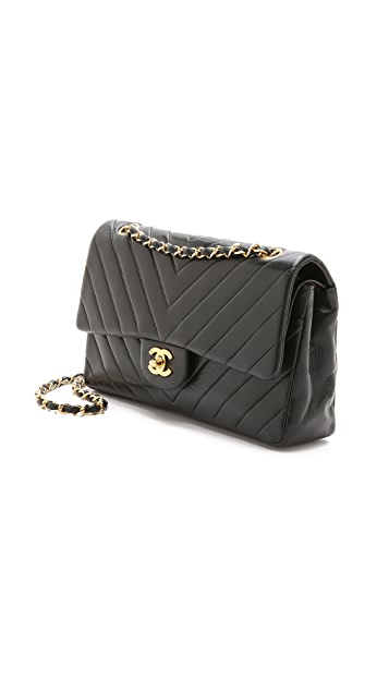 What Goes Around Comes Around Chanel Chevron Detail 2.55 10'' Bag (Previously Owned)