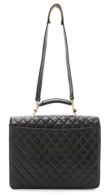 What Goes Around Comes Around Chanel Quilted Briefcase (Previously Owned)