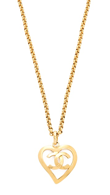 What Goes Around Comes Around Chanel CC Open Heart Necklace (Previously Owned)