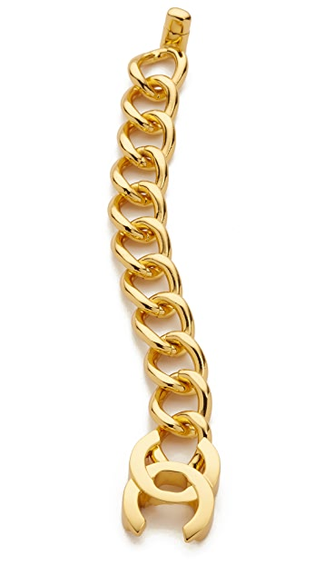What Goes Around Comes Around Chanel Large Turn Lock Bracelet (Previously Owned)