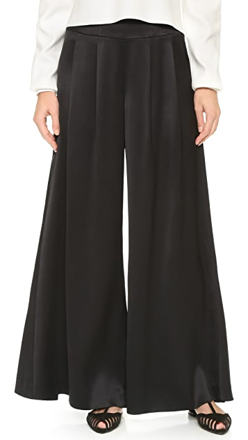 What Goes Around Comes Around Chanel Silk Wide Leg Pants (Previously Owned)