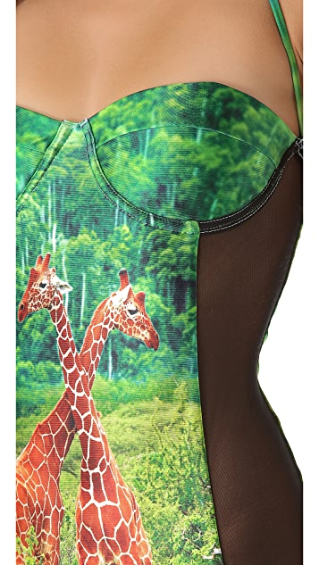 We Are Handsome The Encounter Panel One Piece Swimsuit