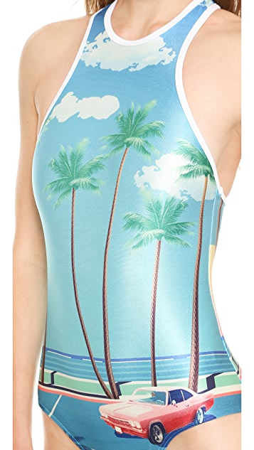 We Are Handsome The Bella Vista Racer One Piece Swimsuit