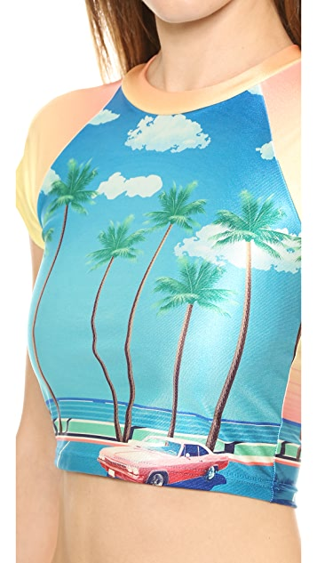 We Are Handsome The Bella Vista Cropped Rash Guard