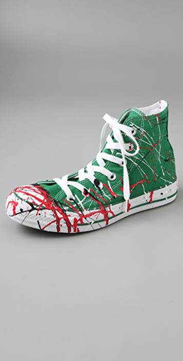 What Goes Around Comes Around Splatter Converse Sneakers