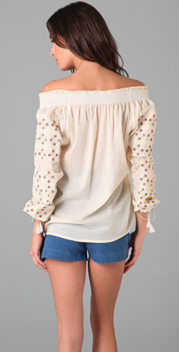 What Goes Around Comes Around Janis Peasant Top
