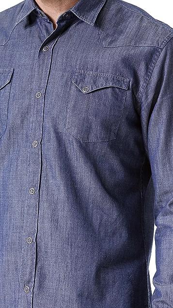 What Goes Around Comes Around Jefferson Chambray Sport Shirt