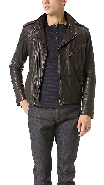 What Goes Around Comes Around Pierce Leather Motorcycle Jacket