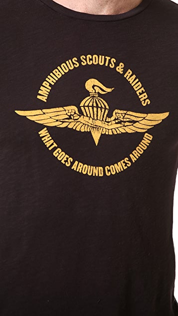 What Goes Around Comes Around Scouts & Raiders Graphic Printed Tee