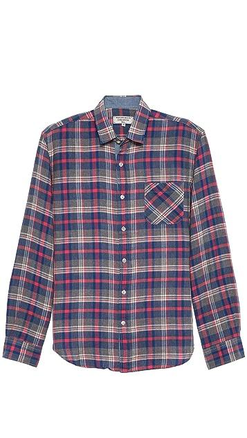 What Goes Around Comes Around Plaid Cotton Sport Shirt