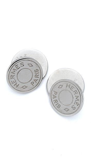 What Goes Around Comes Around Vintage Hermes Silver Cufflinks