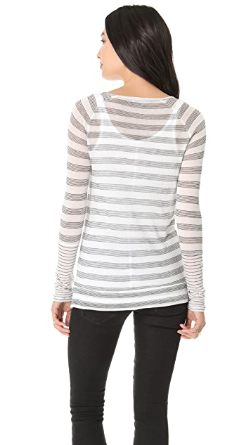 Whetherly Zuma Pinstripe Colorblock Top
