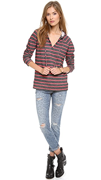 Whetherly Mandy Distressed French Terry Hoodie