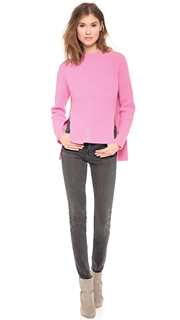 Whistles Kristin Drop Back Cashmere Pullover