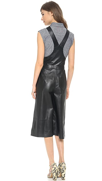 Whistles Layla Leather Culottle Overalls