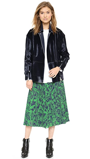 Whistles Anais Floral Asymmetrical Pleated Skirt
