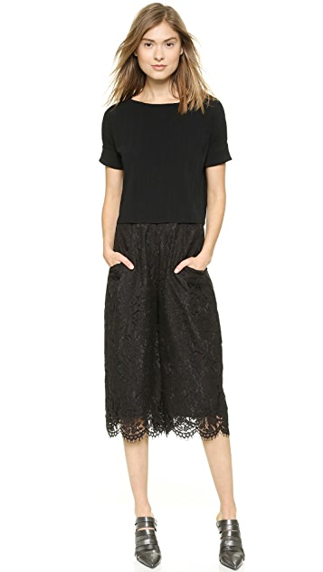Whistles Allover Lace Culotte Pants