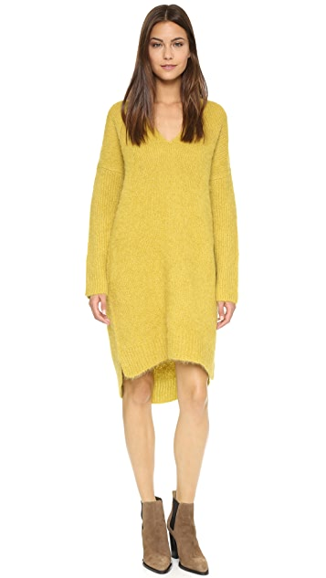 Whistles Freya V Neck Knit Dress