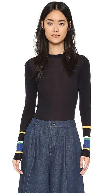 Whistles Harrison Stripe Cuff Sweater
