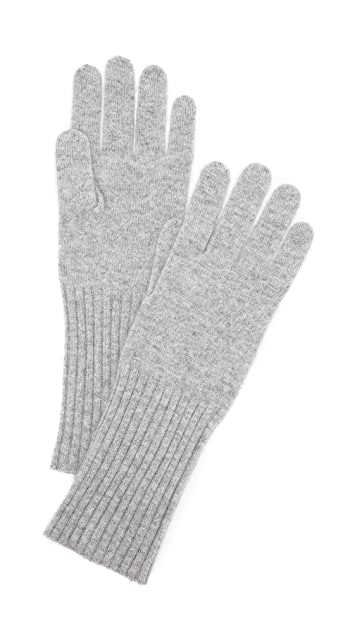 White + Warren Cashmere Rib Trim Glove