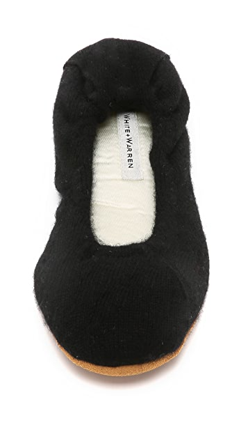 White + Warren Cashmere Ballet Slippers