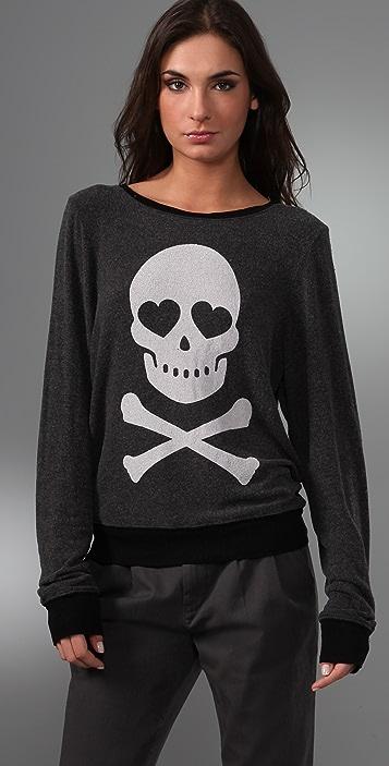 Wildfox Love Bones Baggy Beach Sweatshirt