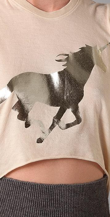 Wildfox Golden Unicorn Tee