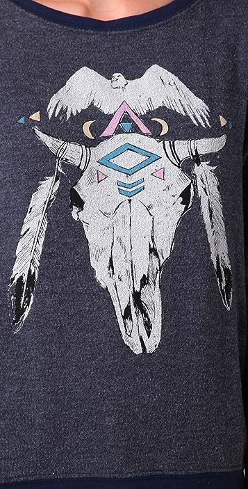 Wildfox Nightlover Baggy Beach Sweatshirt