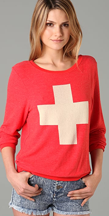 Wildfox Lifeguard Baggy Beach Sweatshirt