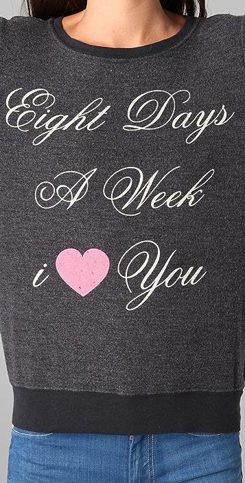 Wildfox Eight Days Baggy Beach Sweatshirt