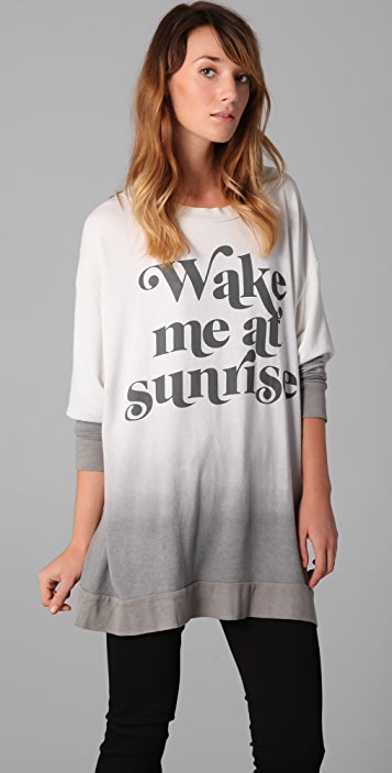 Wildfox Wake Me Road Trip Sweatshirt