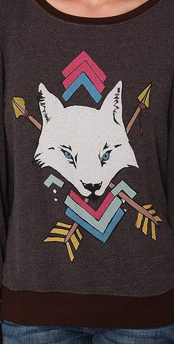 Wildfox White Wolf Baggy Beach Sweatshirt