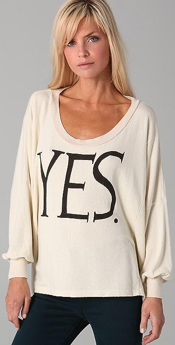 Wildfox YES Nevada Baggy Beach Sweatshirt
