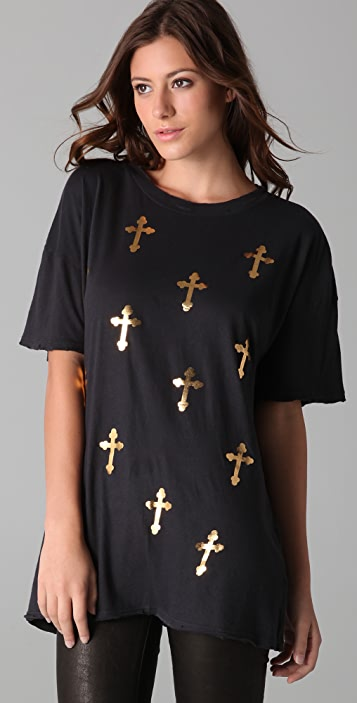 Wildfox All Over Crosses Tee