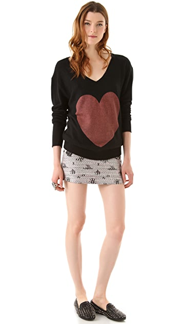 Wildfox Queen of Hearts Sweater