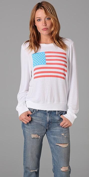 Wildfox America Baggy Beach Sweatshirt