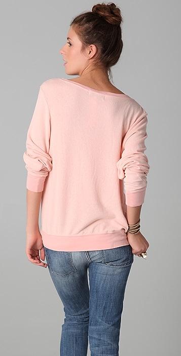 Wildfox Take Me to St Tropez Baggy Beach Sweatshirt