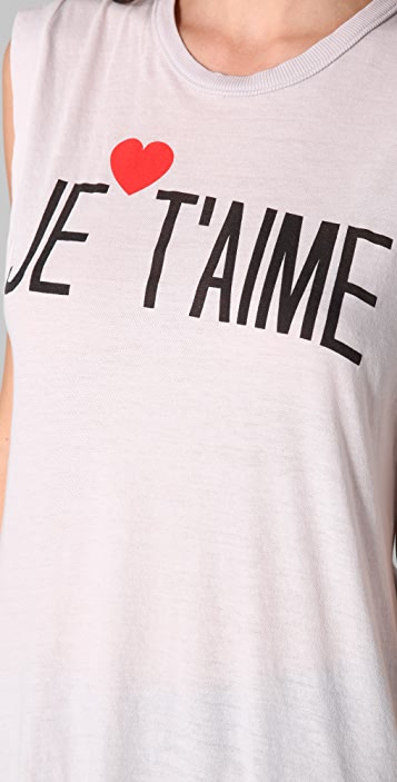 Wildfox Je T'Aime Dylan Tee