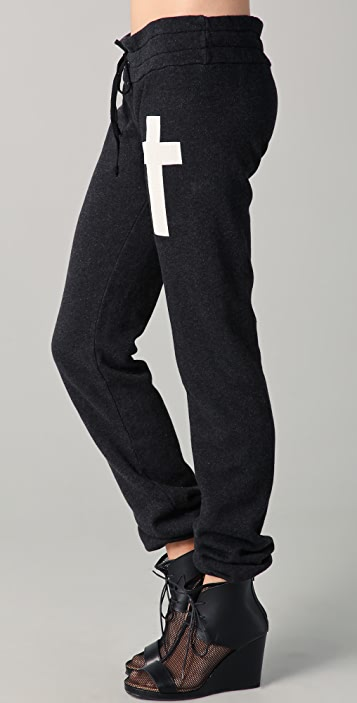 Wildfox Simple Cross Skinny Sweatpants