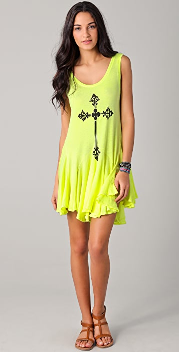 Wildfox Gothic Cross Poolside Dress