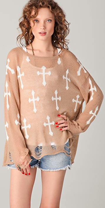 Wildfox Wildfox White Label Gothic Cowgirl Sweater