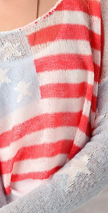Wildfox Wildfox White Label Born on the Fourth of July Sweater